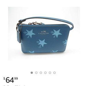 Blue Star Coach Wristlet